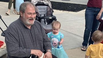 Sal Anello is pictured with his granddaughter, Chloe Wiegand.