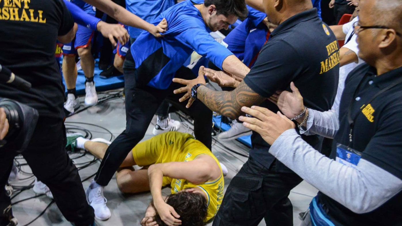 Filipino player Troy Rike helped save Boomer Chris Goulding during violent brawl