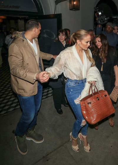 Jennifer Lopez and Alex Rodriguez in Los Angeles, California, March 2018