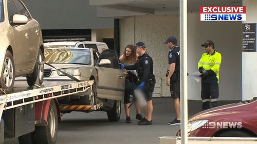 Police were quick to arrive at the Surfers Paradise location, placing the driver in handcuffs.