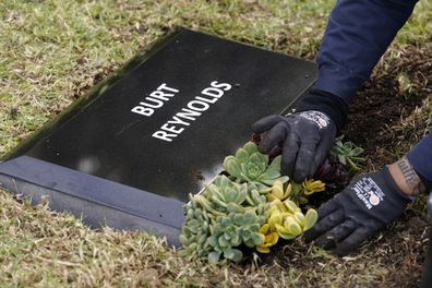 Burt Reynolds, headstone, Hollywood Forever cemetery