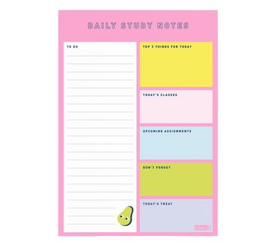 "<p>Staying on top of your schedule is easy - and fun - when you have a cute planner to work with.</p> <p><a href=""https://www.kikki-k.com/a5-study-notes-pad-cute-2018"" target=""_blank"">Kikki K A5 Study Notes Cute, $7.95.</a></p>"