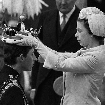 Prince Charles with Queen Elizabeth
