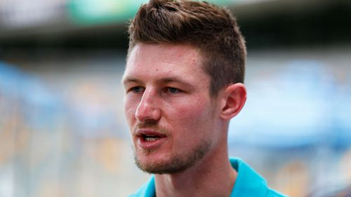 Cameron Bancroft is out. (AAP)