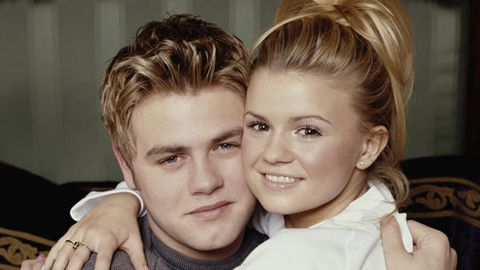 Fresh faced young love: Brian McFadden and Kerry Katona in 2000