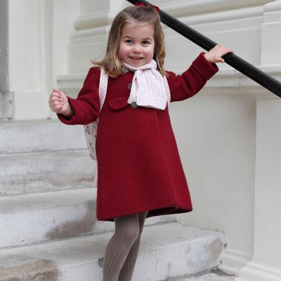 Princess Charlotte on her first day of preschool, January 2018