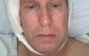 Peter Overton undergoes surgery to remove melanoma