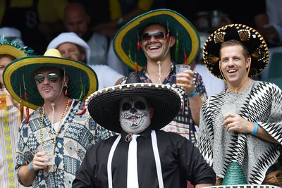 <p>Fans watch the action at the Sydney Sevens. (AAP)</p><p><strong>Click through the gallery to see more action and costumes from the tournament.</strong></p>