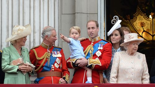 The balcony appearance was only Prince George's second public appearance. (AAP)
