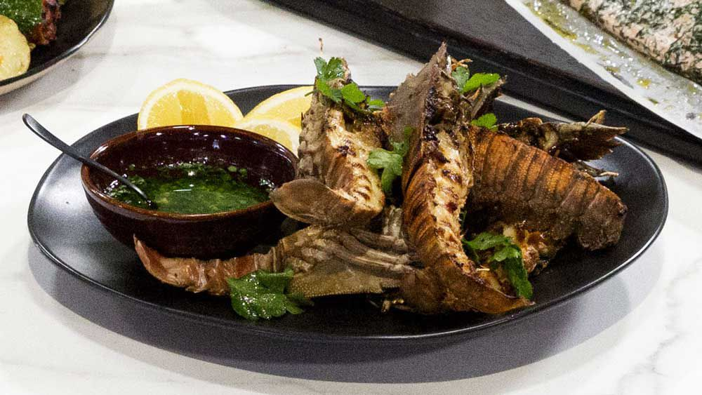 Hayden Quinn's Family Food Fight Moreton Bay bugs