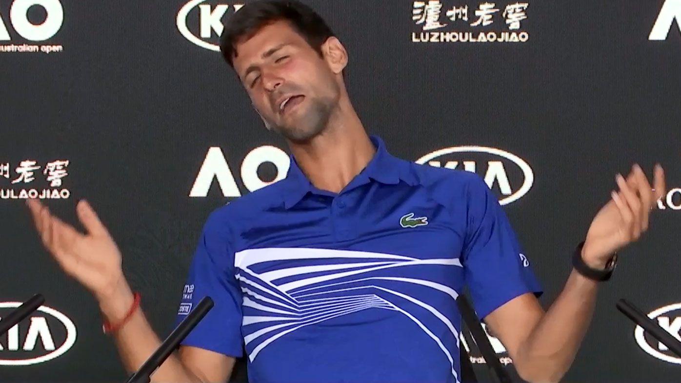 Australian Open: Novak Djokovic has press conference in stitches with flawless impression of veteran journalist