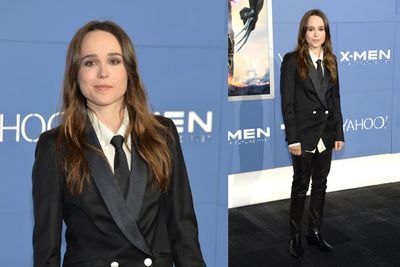 Ellen Page, who plays Kitty Pryde in <i>X-Men: Days of Future Past</i>, looking sharp in a suit.