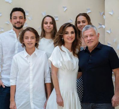 Queen Rania with family