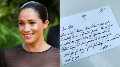 Meghan pens note to writer, August 2019