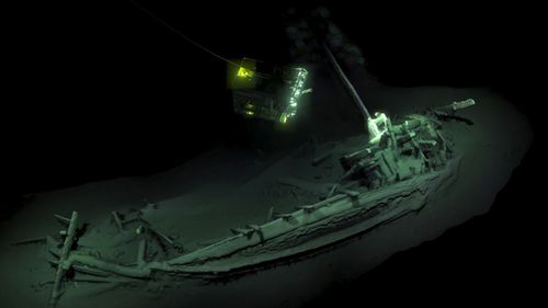The wreck was found 2000 metres below the water - an oxygen-free environment that kept it well preserved.