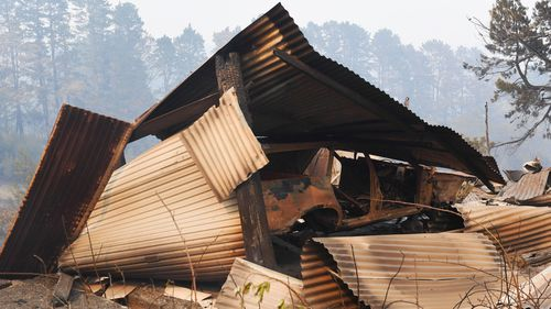 Up to 20 homes and structures were damaged or destroyed.