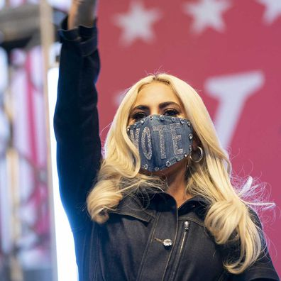 Lady Gaga campaigns for Joe Biden.