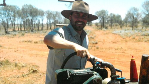 He spent time on a property in South Australia working as a jackaroo.