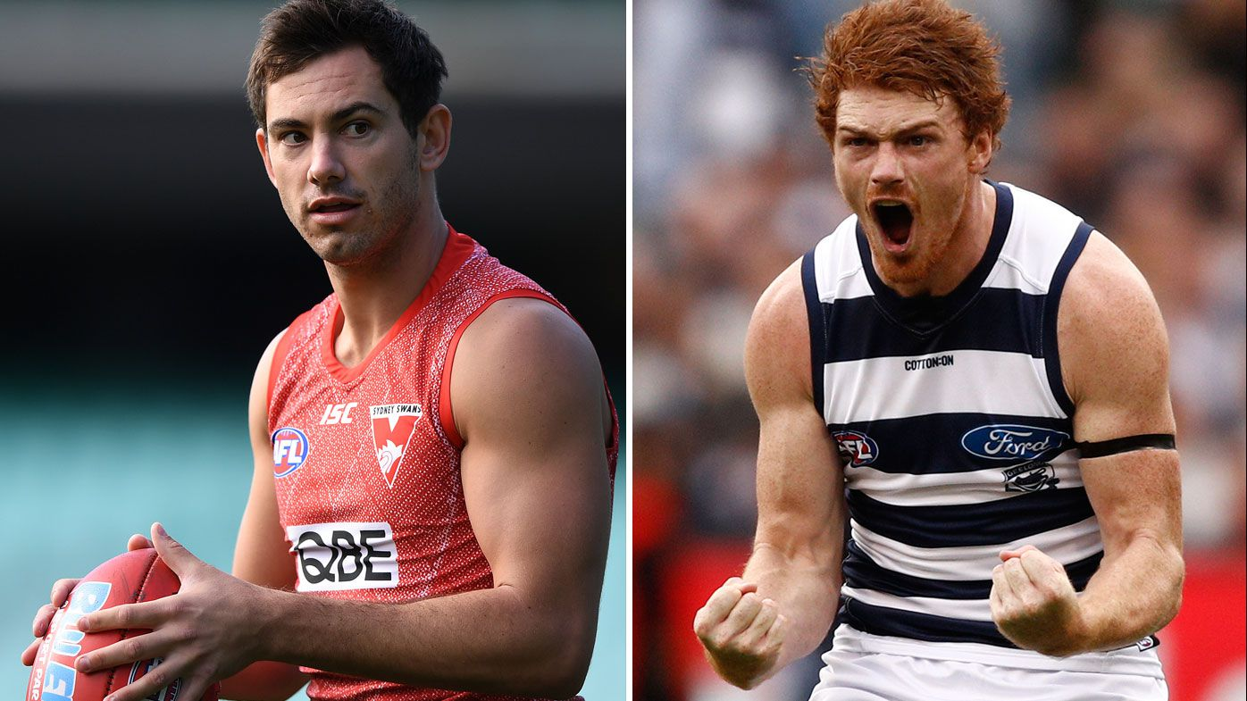 Daniel Menzel and Gary Rohan to face old teams in Geelong vs Sydney AFL clash