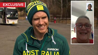 Aussie aerial skier shares emotional call with sick mum