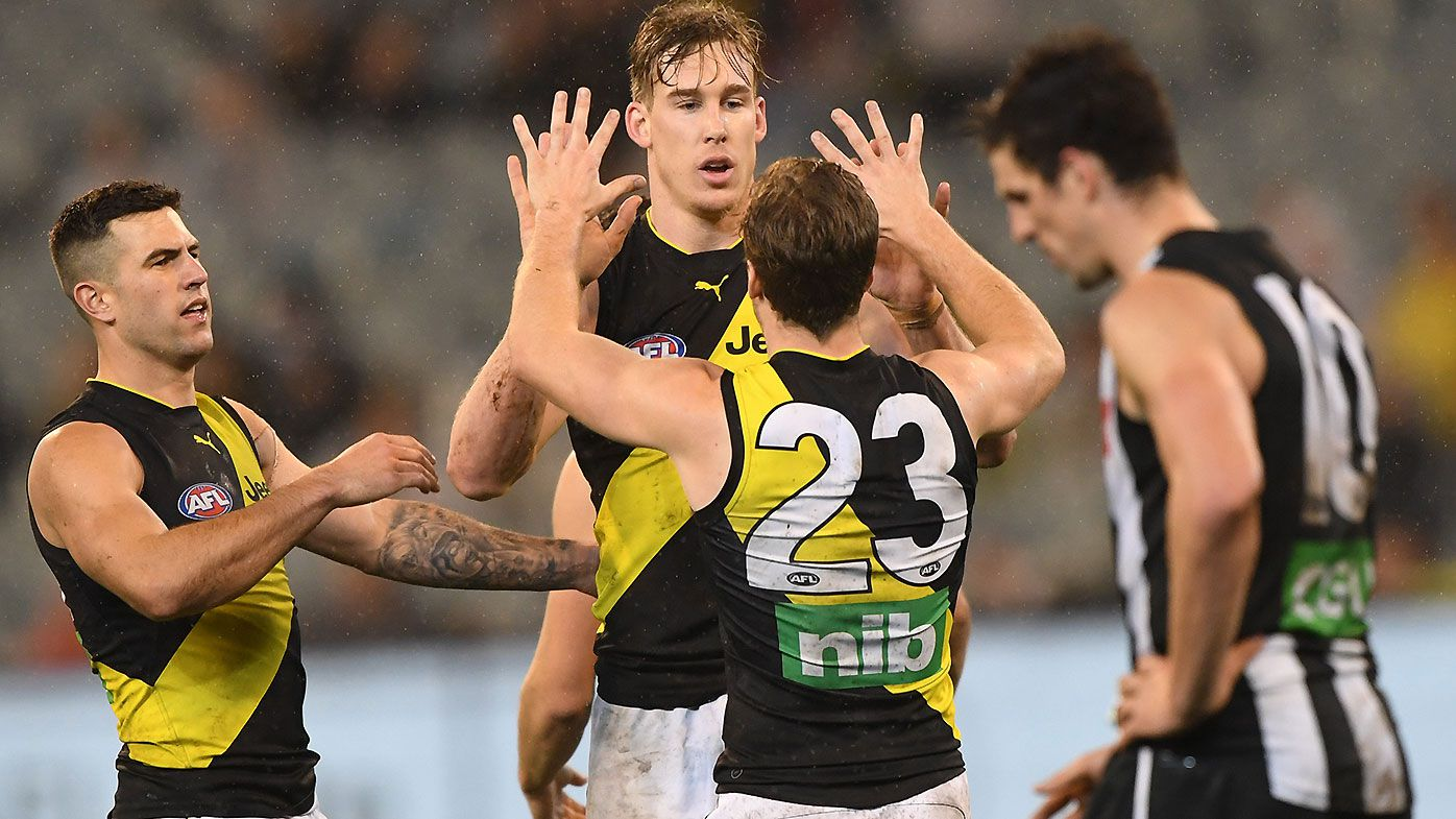 Tom Lynch stars as Richmond sends ominous warning to AFL by thumping Collingwood