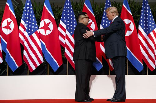 The June 12 Trump-Kim meeting in Singapore which gave hope for peace on the Korean pensinsular.