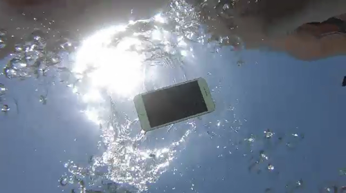 All phones should be cleaned with fresh water if they have been submerged at the beach or in a pool.