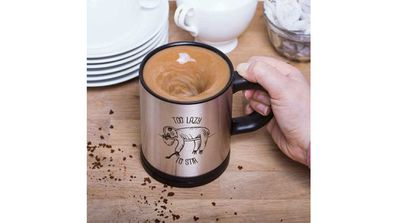 Self-stirring sloth mug