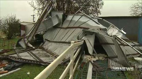 With the rain beginning to clear, home owners are now assessing the damage of the brutal storm.