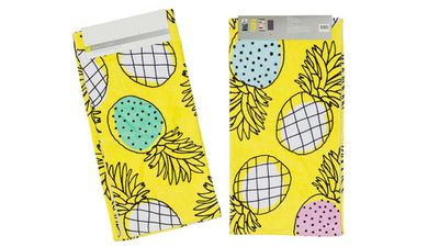 """<strong>Printed velour beach towel - Pineapple</strong>, $7, <a href=""""http://www.kmart.com.au/product/printed-velour-beach-towel---pineapple/1097860"""" target=""""_top"""">kmart.com.au</a>"""