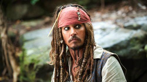 Johnny Depp as Jack Sparrow. (AAP)