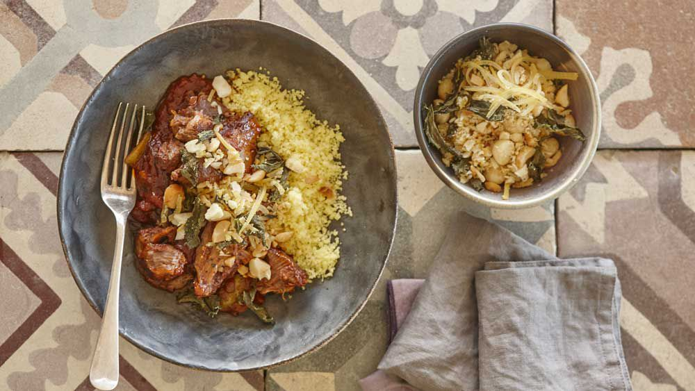 Lamb tagine with macadamia gremolata