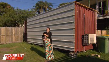 Mum lives in shipping container after gifting daughter home