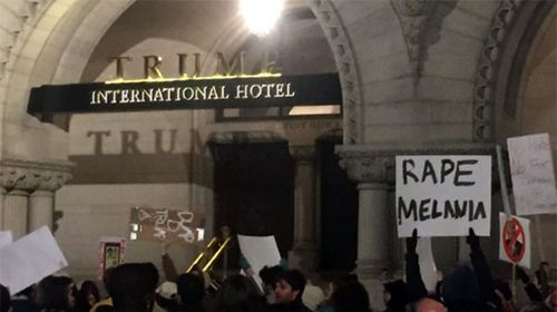 'Rape Melania' sign confirmed real – but does the truth matter?
