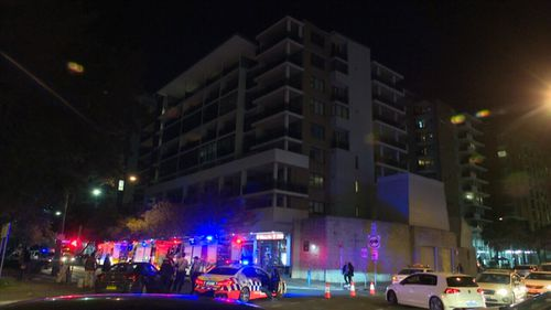 Emergency services were called to an apartment building in Mascot tonight after reports the walls were moving.