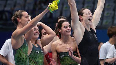 Australia's record-breaking Olympics swim haul