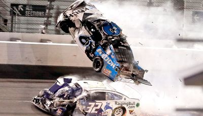 Ryan Newman in a crash at the 2020 Daytona 500