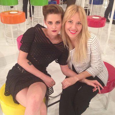 <p>Kristen Stewart and stylist Tara Swennen.</p>