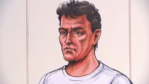 A court sketch of Price. (9NEWS)