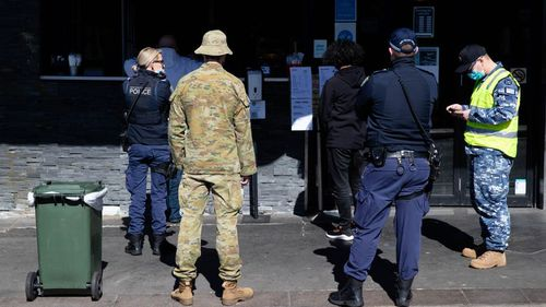 Additional ADF police will hit the streets from Monday to help ensure compliance. (Janie Barrett)