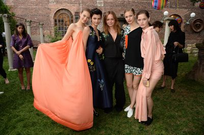 <p>Stella McCartney with models</p>