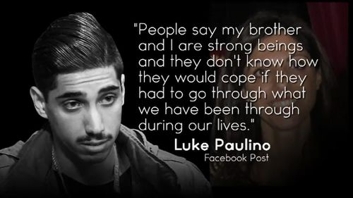 Luke Paulino posted on Facebook last night about the difficult two years they had been through. (9NEWS)