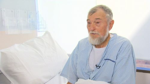 Mackay plumber Des Paton has benign prostatic hyperplasia which is a non-cancerous enlarged prostate. It makes him have to urinate every two hours. (9NEWS)