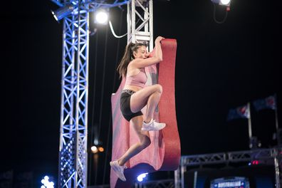 Verity Charles on the Butterfly Wall on the new season of Australian Ninja Warrior