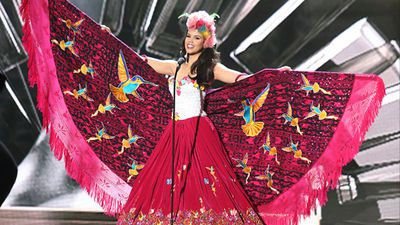 Miss Ecuador Francesca Cipriani during the national costume competition. (Getty)