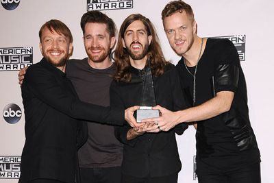 The pressure is on for Vegas rock quartet Imagine Dragons to match the success of their 2012 debut album <I>Night Visions</I>... which scored them a Grammy and five Billboard Music Awards. <br/><br/>With their second album <I>Smoke and Mirrors</I> due out in February 2015, the band members have revealed that their upcoming tunes will be more rock-oriented than it's rap-influenced predecessor. <br/><br/>Rock on, Imagine Dragons!
