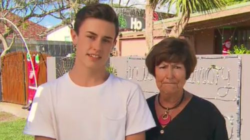 Jackson Dowling, 14, and his grandmother, Judy, spoke to the TODAY Show. (9NEWS)