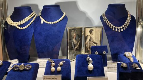 The jewelry had been kept by Marie's family for more than 200 years.
