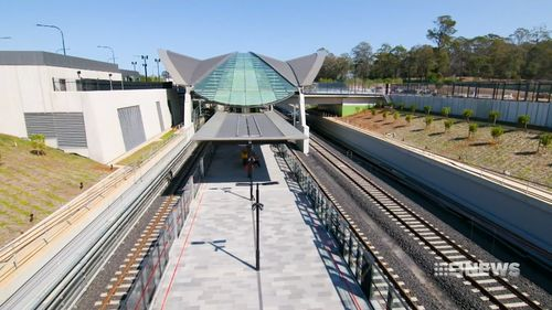 The new-look Tallawong Railway station is nearing completion.