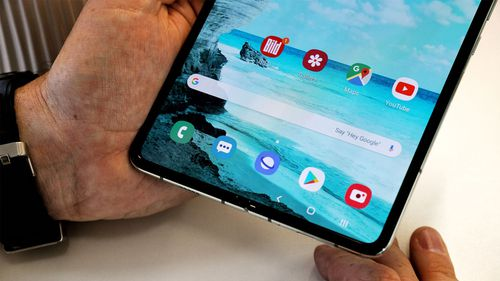 The Samsung Galaxy Fold functions like a tablet when fully extended.